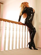 Tight Sexy Leather Catsuit, pic #13
