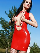 Latex and fishnets tease, pic #10