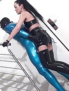 Rubber strap-on training, pt.2, pic #1